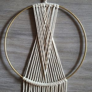 None Accents - Macrame Geometric Wall Decor Hanging Hoop